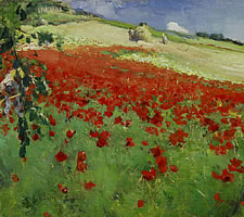 William Blair Bruce, Landscape with Poppies, 1887.