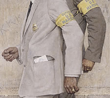 Norman Rockwell (1894-1978), 'The Problem We All Live With', 1963 (detail).