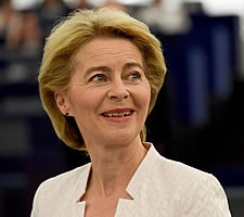 Ursula von der Leyen, Candidate for President of the EC, at the Plenary session of the EP © Copyright European Commission 2019.