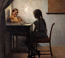 Peter Ilsted, 'Interior with Two Girls', 1904.