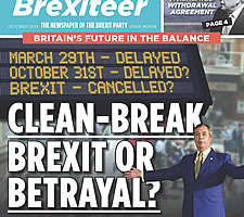 The Brexiteer, magazine of the UK Brexit Party.