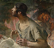 Jules Bastien-Lepage, 'The Annunciation to the Shepherds', 1875 (detail).