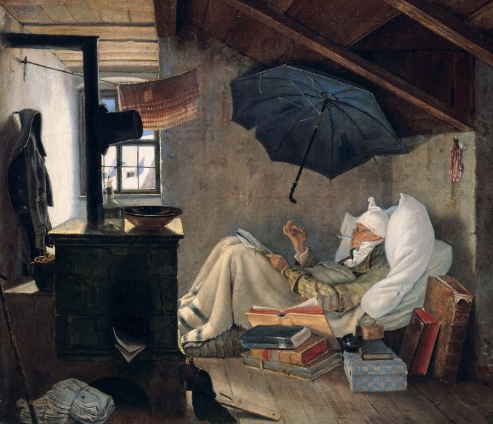 Carl Spitzweg, The Poor Poet, 1837