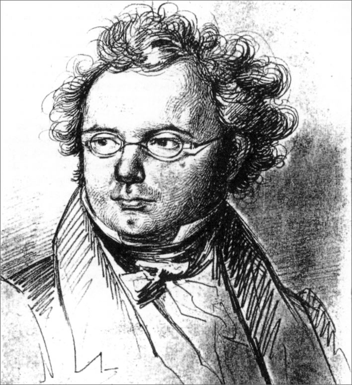 Friedrich Lieder's 1827 sketch of Schubert