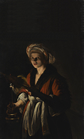 Adam de Coster, 'Young Woman Holding a Distaff Before a Lit Candle', ND.