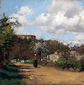 Camille Pissarro, 'View from Louveciennes', 1869-70.