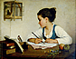 Henriette Browne, GirlWriting, ND.
