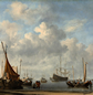 Willem van de Velde II, 'Entrance to a Dutch Port', c1665.
